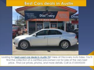 Best Used Cars deals Austin | Discovery Auto Sales