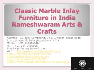 Classic Marble Inlay Furniture in India Rameshwaram Arts & Crafts