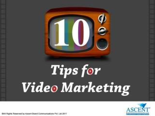 10 Tips for Video Marketing