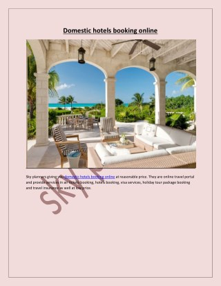 domestic hotels booking online