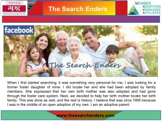 Locating Separated Family | thesearchenders.com