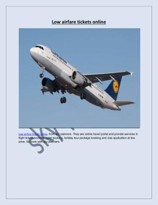 Low airfare tickets online