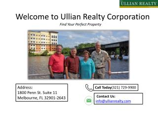 Commercial Real Estate Melbourne FL Ullian Realty Corporation