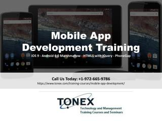 Mobile Application Development Training 2018