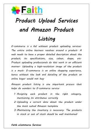 Why Product Upload Services Are Important