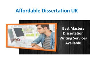 Best Masters Dissertation Writing Services Available