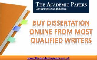 Buy Dissertation Online from Most Qualified Writers