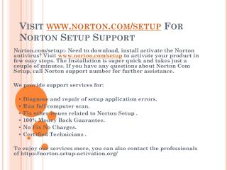 Visit on norton.com/setup to get Norton Setup Support