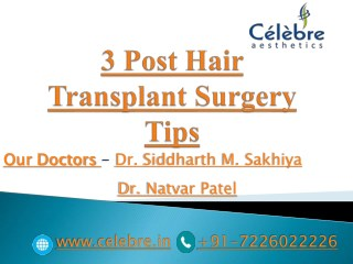 3 Post Hair Transplant Surgery Tips
