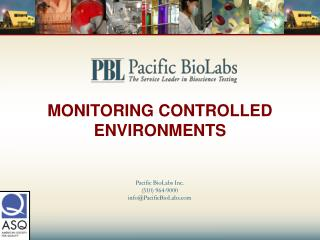 MONITORING CONTROLLED ENVIRONMENTS