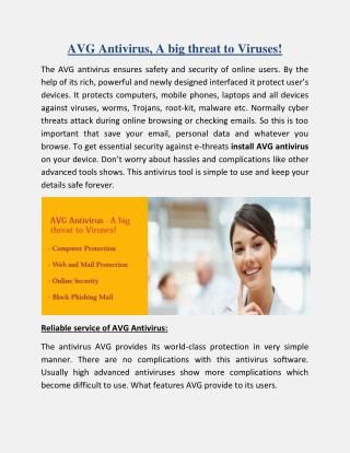 AVG Antivirus - A big threat to Viruses!