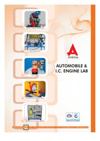 AUTOMOBILE ENGINEERING & I.C. ENGINE LAB
