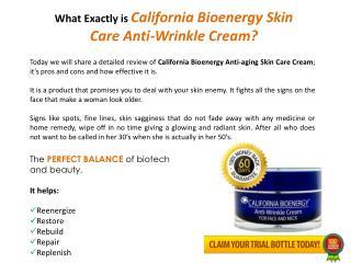 California Bioenergy Anti-Aging Skin Care Cream