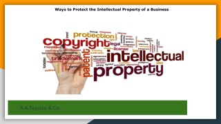Ways to protect the intellectual property of a business
