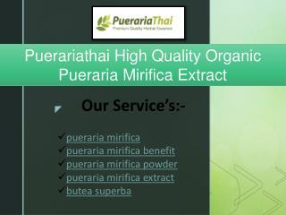Puerariathai | High Quality Organic Pueraria Mirifica Extract