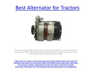 Alternator for Ford Tractor