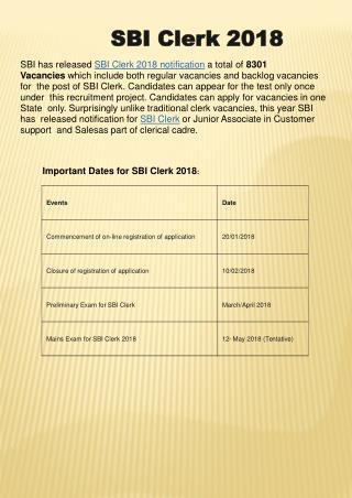 Syllabus and Pattern for SBI Clerk Exam