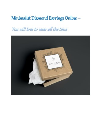 Minimalist Diamond Earrings Online