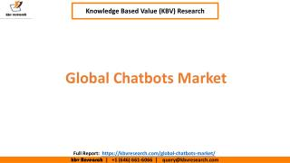 Global Chatbots Market Size and Share