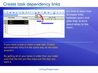 Create task dependency links