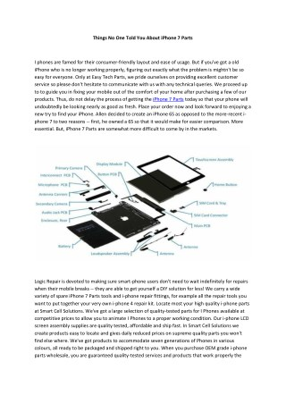 iPhone 7 Parts