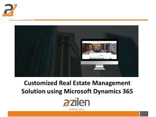 Real Estate Management Solution
