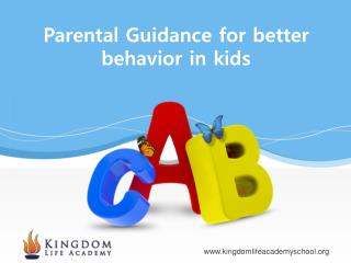 Parental guidance in Orange County CA