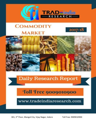 Daily Commodity Prediction  Report 12.04.2018 by TradeIndia Research