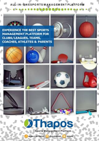 Thapos: Sports Management Software for Clubs, Leagues, Teams, Players