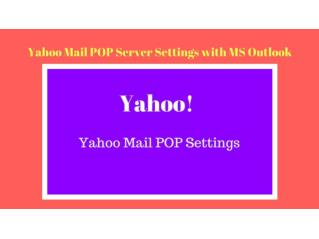 Yahoo Mail POP Server Settings with MS Outlook