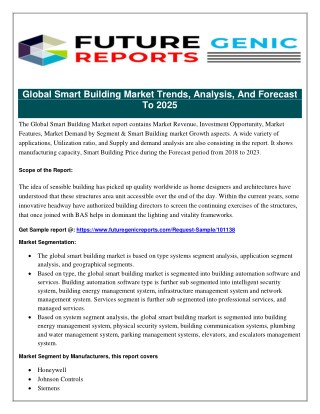 Smart Building Market Prospective Report: International Opportunities and Trends, Manufacturers Growth Forecast 2023