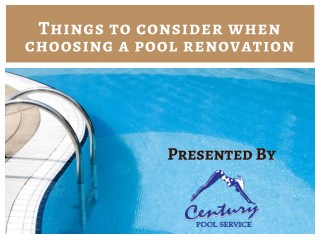 Things to Consider When Remodeling Your Pool