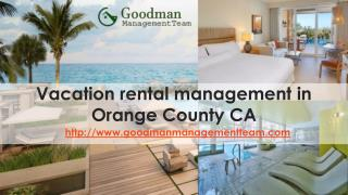 vacation rental management in Orange County CA