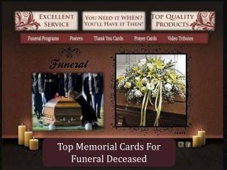 Top Memorial Cards For Funeral Deceased