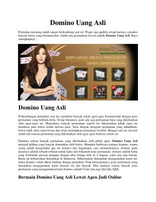 Domino Uang Asli