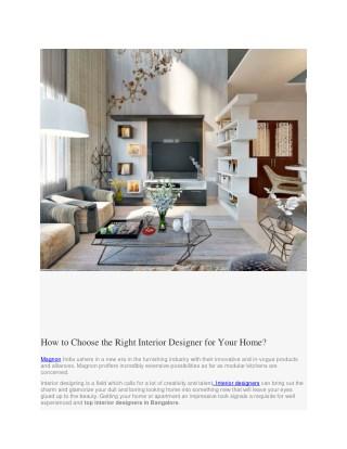 best interior design firms in Bangalore
