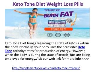 Keto Tone Weight Loss Pills