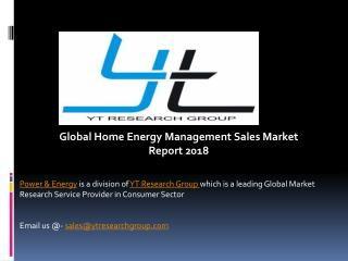 Global Home Energy Management Sales Market Report 2018