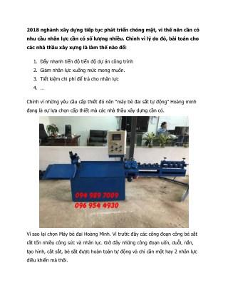 Những điều kiện nào nên chọn máy bẻ đai thích hợp với công trình