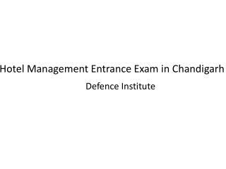 Hotel Management coaching in Chandigarh