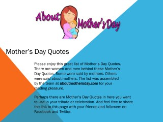 Happy Mother's Day 2018 – Mother's Love Quote