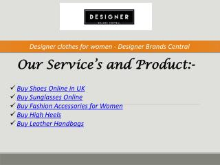 Buy Shoes Online in UK - Designer Brands Central