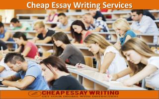 Cheap Essay Writing Services - Get Best Help to Get Best Grades