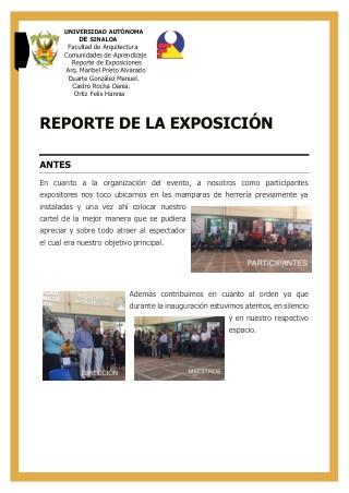 Reporte de la exposición: INAH