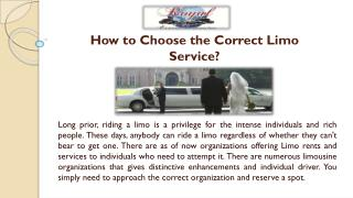 How to Choose the Correct Limo Service?