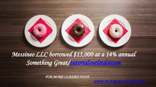 Messineo LLC borrowed $15,000 at a 14% annual Something Great /tutorialoutletdotcom