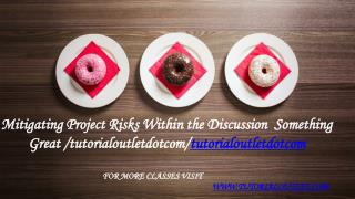 Mitigating Project Risks Within the Discussion Something Great /tutorialoutletdotcom