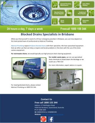 Blocked Drains Specialists in Brisbane