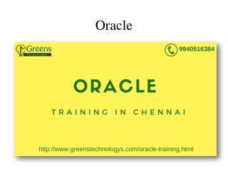 Oracle Training in Chennai