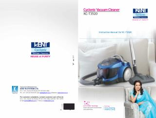 Kent Wet and Dry Vacuum Cleaner - User Manual and Product Description